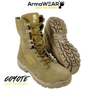 Armawear Coyote Military Tactical Army Desert Combat Patrol Boots  uk 5-13 