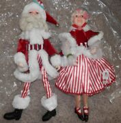 Katherineand039s Collection Mrs Claus And Santa 18 Sit Or Stand 2012 Candy Stripes