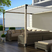 Tan/white Pergola Canopy Replacement Cover Outdoor Yard Patio Uv