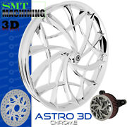 Smt Machining Astro 3d Chrome Front Wheel Harley Touring Bagger 21