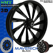Smt Machining Maverick 3d Gloss Black Front Wheel Harley Touring Bagger 21