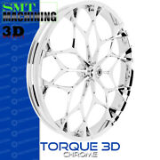 Smt Machining Torque 3d Chrome Front Wheel Harley Touring Bagger 21