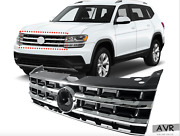 Fit For 2017 2018 2019 Vw Atlas Front Bumper Chrome Satin Assembly Grille Grill