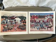 Two 2 Signed And Numbered Prints 1987 By Judy Wickersham Schauermann Folk Art