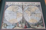 Antique A New Map Of The Terraqueous Globe William Duke Of Gloucester Burghers