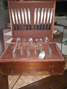 Andnbspwm A Rogers A1 Oneida Silver Plate. 1948 Brittany Rose. Service For 12.andnbsp