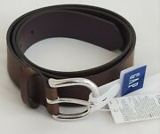 New Gap Womenand039s Classic Belt Brown Silver Buckle Adjustable Cow Leather Xl