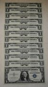 Fr. 1619 1957 Silver Certificates Very Ch Cu 12 Consecutive Star Notes