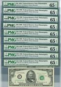 Fr. 2114-c 50 1969 Federal Reserve Note 9 Consecutive 65 Epq Pmg Dc-2652