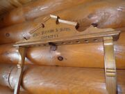 Antique Chas. Passion And Sons Chicago, Pool Billiard 1800s Victorian Oak Cue Rack