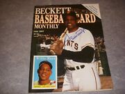 Beckett Baseball Card Monthly Magazine, 29, July 1987, Willie Mays Photo Cover