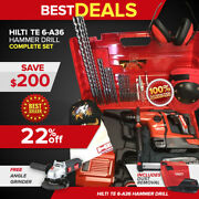 Hilti Te 6-a36 Hammer Drill, Preowned, Free Angle Grinder, Bits, Fast Ship