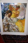 Royo Dos Figuras On Paper Unframed Signed Fine Art Submit Your Best Offer