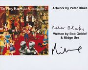 Midge Ure And Peter Blake Hand Signed 8x10 Photo Sgt Peppers, Beatles Band Aid