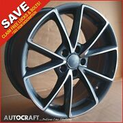 18 Rs4 Gg Style Alloy Wheels + Tyres Fits - Audi A3 A4 A6 Tt Pcd 5x112