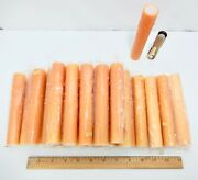 Set 26 New-old Stock 6 Rust-tan Beeswax Candle Covers. Chandelier Base.