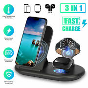 10w Fast Charger 3 In 1 Wireless Charging Dock For Iphone Samsung Watch Air Pods