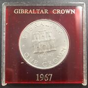 Gibraltar 1967 Crown, Uncirculated, In Case, Castle Gate