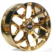 22 Str Wheels 701 Candy Gold Snowflake Replica Rims Fit Avalanche B1