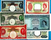 Malaya Banknote Kgvi Qeii 1 5 10 50 Very High Grades Rare In This Condition