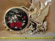 Vintage Taiyih Unicorn, Pegasus, Winged Horse Wall Clock, Butterfly Secondhand.