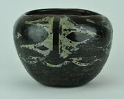"""Antique Native American Indian Pottery Bowl 2 ¾"""" Tall.  Bimk/0117.tmp"""