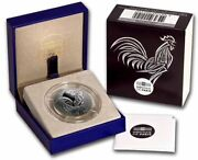 France 2016 Le Coq The Rooster Silver Proof 10 Euro Coa Numbered