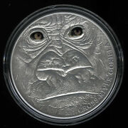 Cameroon Cross River Gorilla Adult Silver Coin Real Eye Effect Coa Boxed