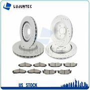 Brake Ceramic Pads And Rotors Front And Rear For Cadillac Xlr V Chevrolet Corvette