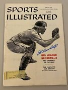 Del Crandall Auto Signed April 21, 1958 Sports Illustrated Free Shipping