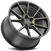 4 21 Staggered Tsw Wheels Chrono Matte Black W Machined Face Forgedb32