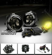 00-07 Focus/mustang/escape/lincoln Ls Bumper Smoke Fog Lights+3000k Hid+switch
