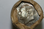 End Of Roll Toned 1964-p Kennedy Half Dollar Bank Wrapped Roll Uncirculated