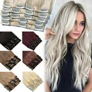 Bleach White Aaaa Russian Clip In Remy Human Hair Extensions 8pieces Full Head