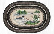 Capitol Earth Rug Country Farmhouse Loons Lake Cabin Area Rug Op-313