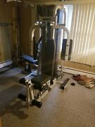 Multi Station Gym Equip - Chest Press Lat Pull Down Triceps Lower Lat Pulley