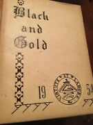 1954 E.e. Bass Greenville Mississippi High School Yearbook,the Black And Gold
