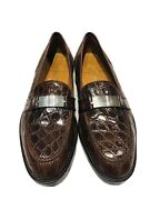Polo Rl Drake Ornament Brown Crocodile Menandrsquos Loafers Shoes
