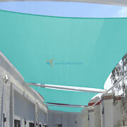 Turquoise 23-31ft Heavy Duty Steel Wire Rectangle Sunscreen Cover 200gsm+ Kit