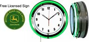 Nothing Runs Like A John Deere Green Sign With Free 19 Neon Clock Green Neon V2