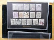Qv Collection Of 16 Different Fine Used 6d Values All With Full Perfs Cat Andpound2300