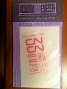 C-d-s Lettering N Scale Decals Nos Canadian National Covered Hopper N-41