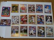 Lot Of 17 1991 Topps Tops Baseball Cards Barry Bonds Babe Ruth