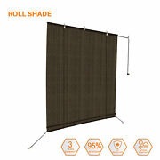 8 Ft. Sun Shade Roller Blind Cordless Roll Up Patio Porch Outdoor Uv Protection