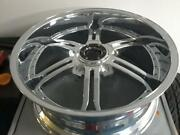 Gianelle 24 Inch By 10 Inch Chrome Mallorca Undrilled/blank Set Of 4 Rims