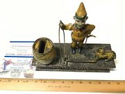 Trick Dog Cast Iron Mechanical Bank Shepard Hardware With Key Works Perfectly