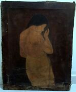 Big Size Old Antique Fine Portraits Nude Woman Beautiful Oil Canvas Painting