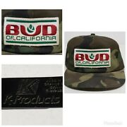 Vtg K Products Bud California Patch Farmer Camo Camouflage Snapback Hat Cap Usa