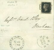 Gb Penny Black Plate 5 Nh State I Cover 1841 Chester-le-street Mx {cert'} 771b