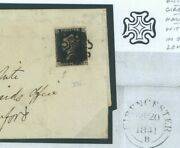 Gb Penny Black Cover Glos Distinctive Cirencester Mx Break Outer Cross 1841 749a